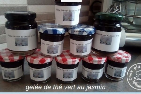 Recette Gelee de the vert au jasmin au thermomix