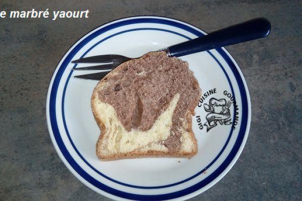 Recette Cake marbré yaourt au thermomix