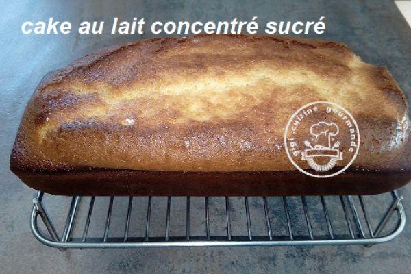 Recette CAKE au LAIT CONCENTRE SUCRE au thermomix