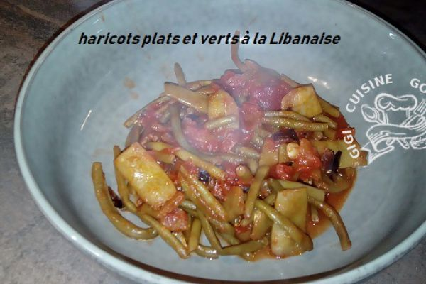Recette Haricots plats et verts à la Libanaise (cookéo)