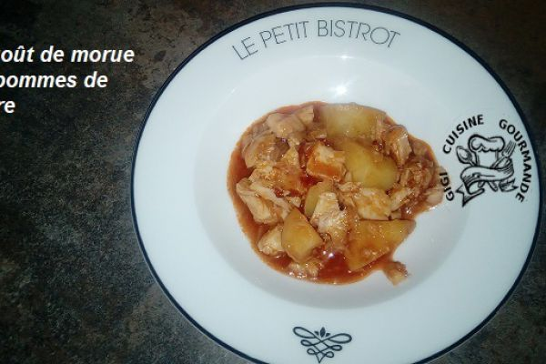 Recette ragoût de morue et pommes de terre (cookéo)