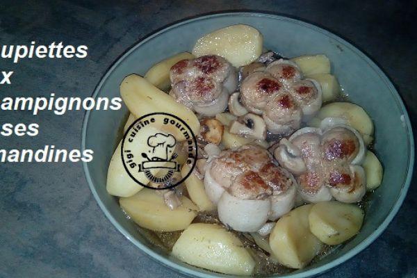 Recette PAUPIETTES CHAMPIGNONS et ses AMANDINES (cookéo)