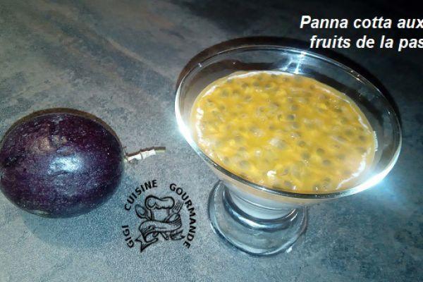 Recette Panna cotta lait coco et fruits de la passion