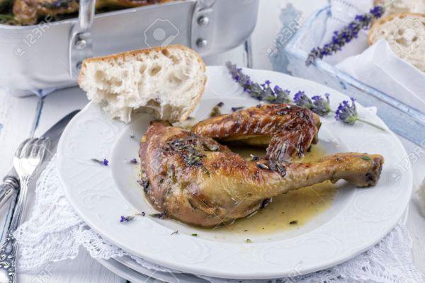 Recette La lavande -- Poulet lavandine