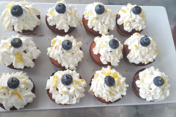 Cupcake citron myrtille
