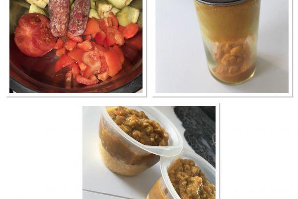 Recette Purée aubergines poivrons bœuf