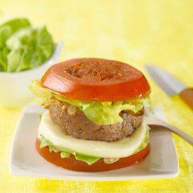 Recette Burger de tomate à la viande hachée