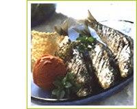 Recette Sardines à la plancha, granité de tomates et tuiles de parmesa