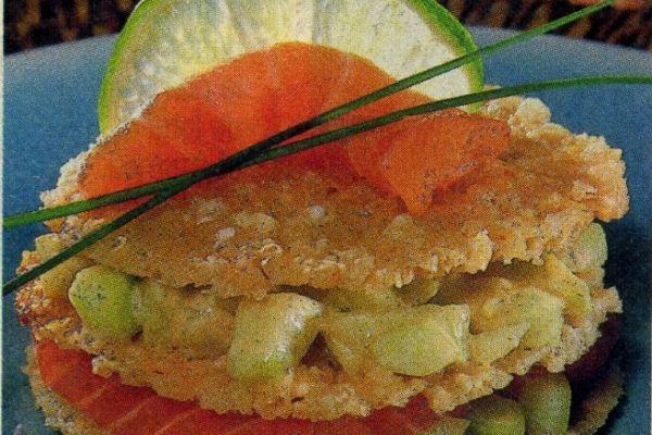 Recette Mille-feuilles de saumon mariné au parmesan