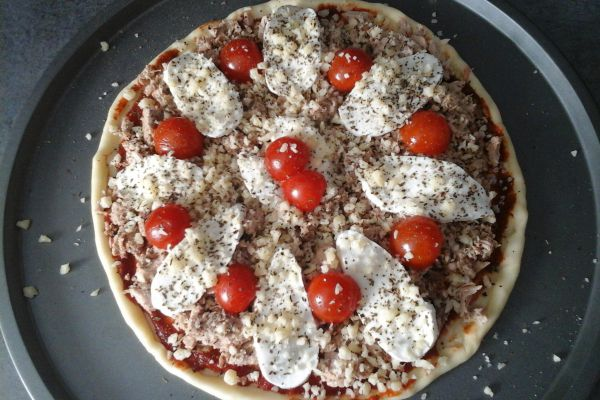 Pizza thon mozzarella