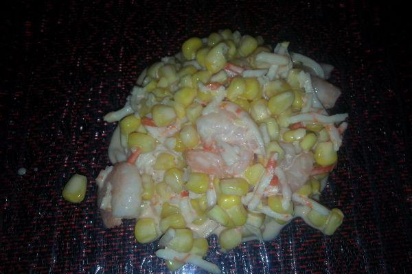 Recette Salade de maïs aux poissons