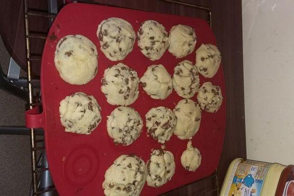 Recette Cookie pépite chocolat coeur Nutella