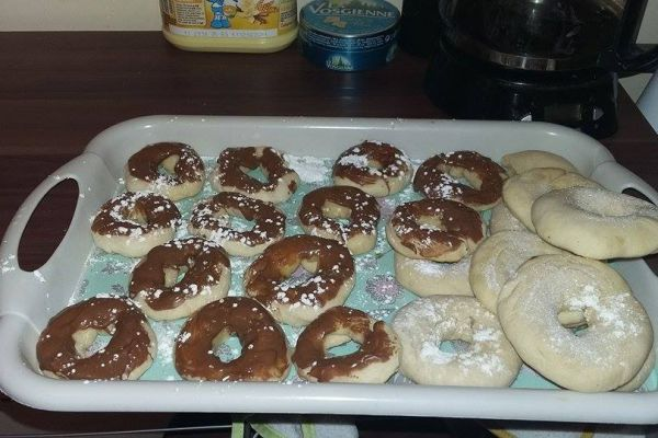 Recette Donuts vanille avec glaçage chocolat au four