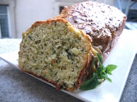 Recette Cake aux courgettes et parmesan