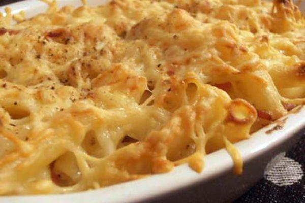 Recette Gratin de macaroni au jambon fumé