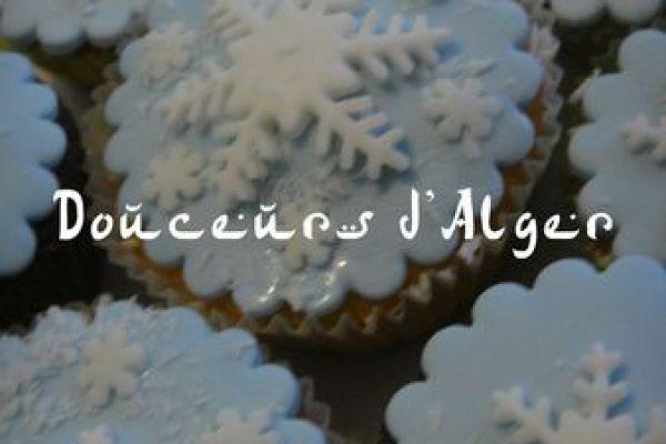 Recette Cupcake flocon de neige