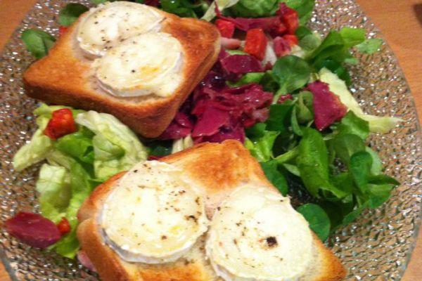 Recette Salade de chèvre