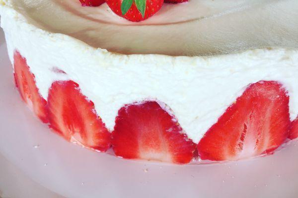 Fraisier crème mascarpone