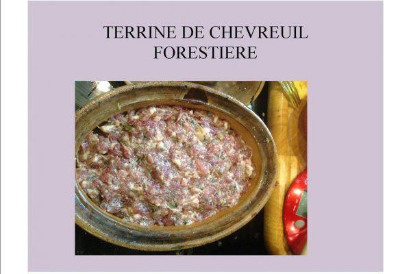 Recette TERRINE DE CHEVREUIL FORESTIERE