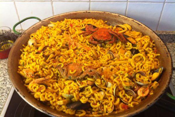 Recette FIDEUA ESPAGNOLE (ou paella de pâtes)