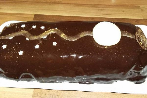 Recette Buche chocolat caramel et insert crème brulée