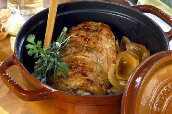 Recette Rôti de porc en cocotte à la moutarde