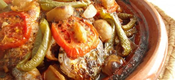 Tajine de poisson aux légumes