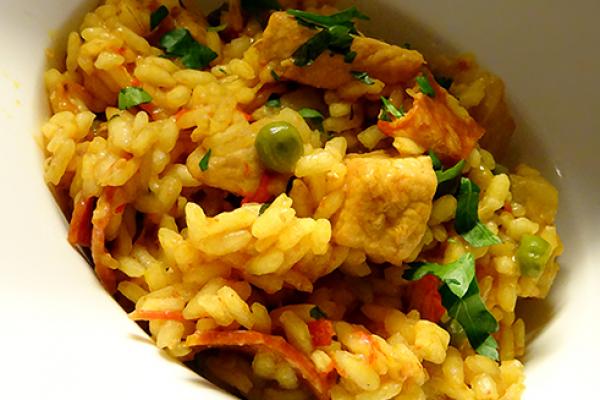 Arroz con carne (risotto Espagnol)
