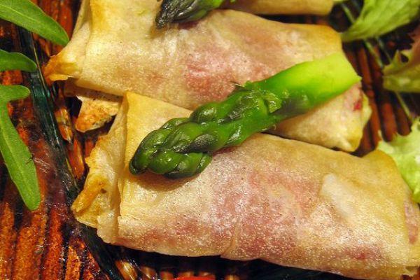 Recette Croustillants aux asperges vertes