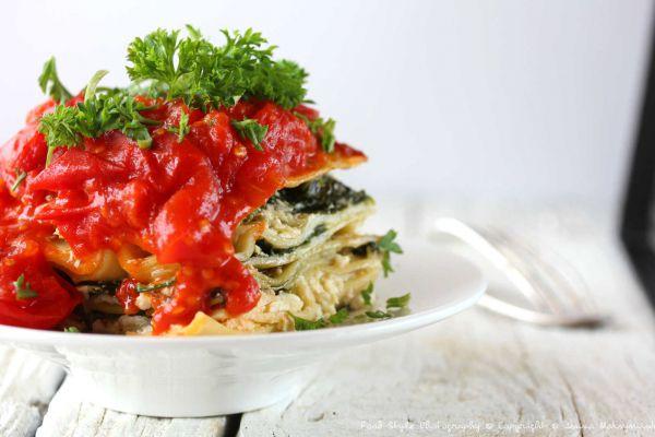 Recette Lasagnes végétariennes aux épinards frais, ricotta et tomates