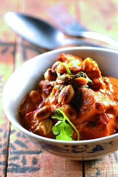 Recette Curry de porc aux cacahuètes et au lait de coco