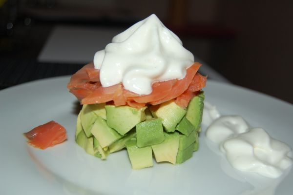 Saumon Avocat et chantilly