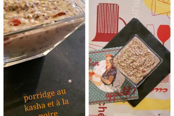 Porridge de Kasha à la poire