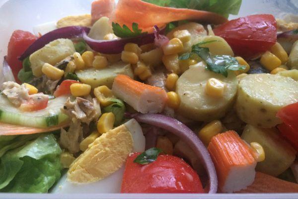 Recette Salade printanière au maquereau
