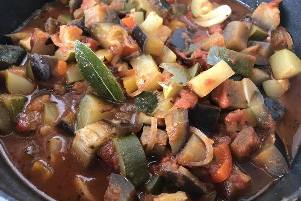 Recette Ratatouille au coulis de tomates