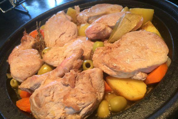 Recette Tajine de filet mignon aux olives et cumin
