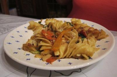 Recette Torsades légumes et parmesan