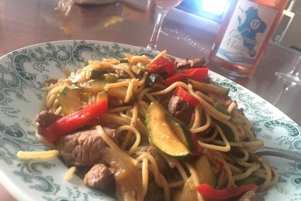 Recette Nouilles chinoises au boeuf