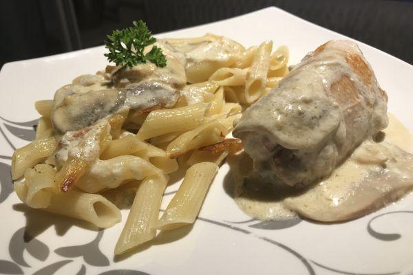 Recette Saltimboca de volaille farcis au gorgonzola et jambon cru
