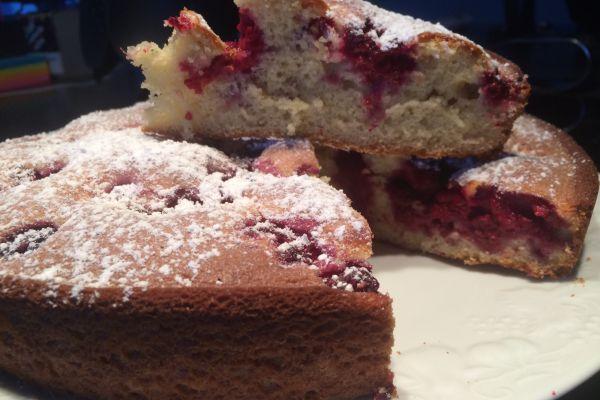 Recette Gâteau léger aux framboises