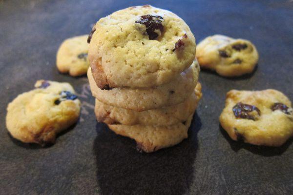 Recette Cookies chocolat blanc et cranberries