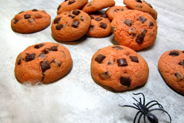 Cookies orange chocolat [ Halloween ]