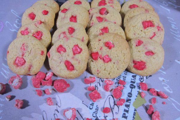 Recette Cookies aux pralines roses