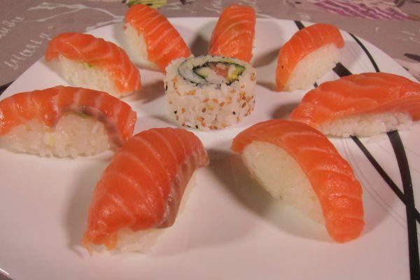 Recette Sushi Nigiri au saumon