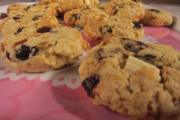 Recette Cookies pruneaux et chocolat blanc