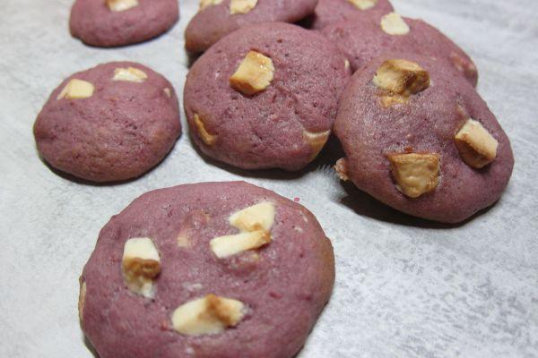Recette Cookies aux framboises et chocolat blanc