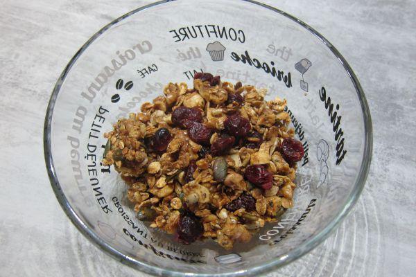 Recette Céréales maison (granola) - 5 céréales et cranberries
