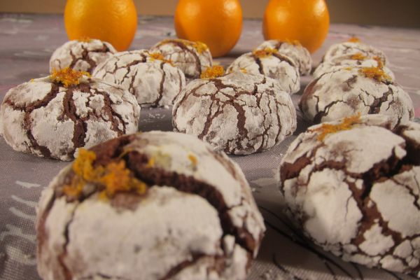 Recette Crinkles chocolat/orange
