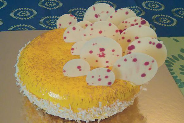 Recette Entremet mangue,passion, banane (inspiration julien chamblas)
