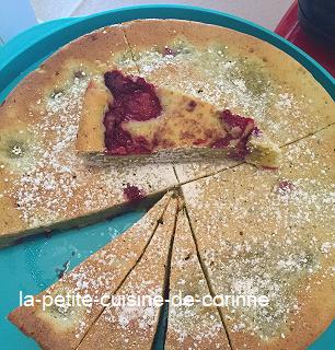 Recette Gâteau moelleux framboises pistaches